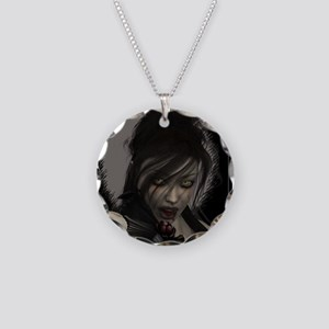 Vamp Necklace Circle Charm