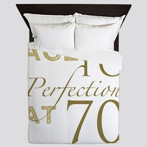 70th Birthday Aged To Perfection Queen Duvet