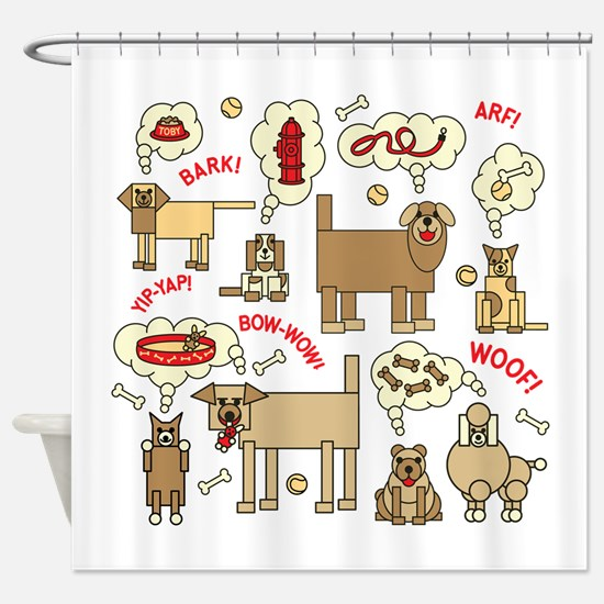 What Dogs Think Shower Curtain