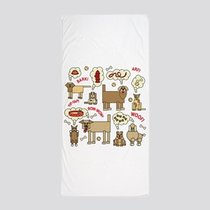 What Dogs Think Beach Towel