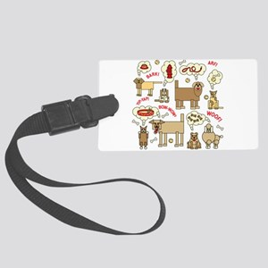 What Dogs Think Large Luggage Tag