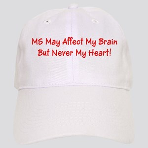 MS Affects My Brain Never My Heart Cap