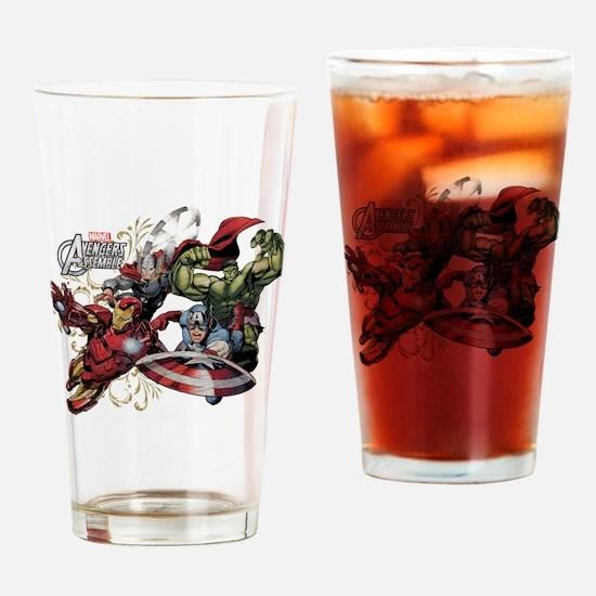 Avengers Group Drinking Glass