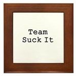 Team Suck It Framed Tile