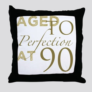 90th Birthday Aged To Perfection Throw Pillow
