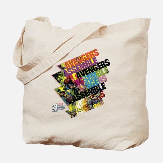 Text Avengers Tote Bag