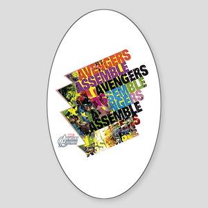 Text Avengers Sticker (Oval)