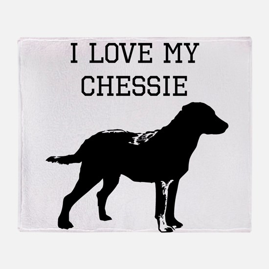 I Love My Chessie Throw Blanket
