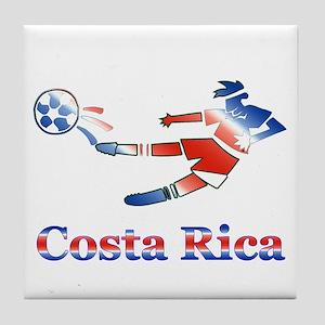 Costa Rica Soccer Player Tile Coaster