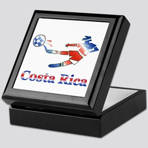 Costa Rica Soccer Player Keepsake Box