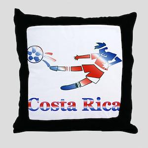 Costa Rica Soccer Player Throw Pillow