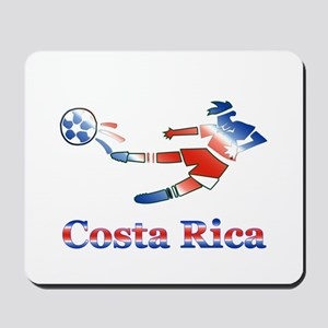 Costa Rica Soccer Player Mousepad