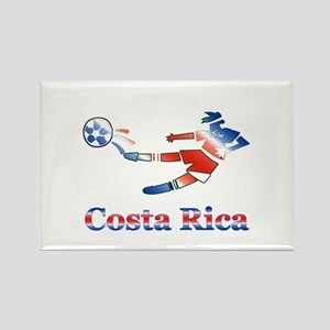 Costa Rica Soccer Player Rectangle Magnet (10 pack