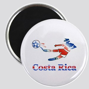 """Costa Rica Soccer Player 2.25"""" Magnet (10 pack)"""
