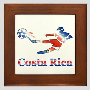 Costa Rica Soccer Player Framed Tile