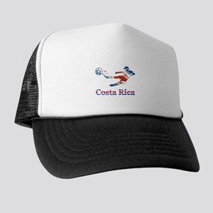 Costa Rica Soccer Player Trucker Hat