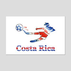 Costa Rica Soccer Player Mini Poster Print