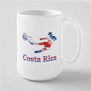 Costa Rica Soccer Player Large Mug