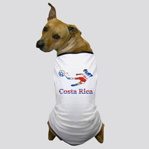 Costa Rica Soccer Player Dog T-Shirt