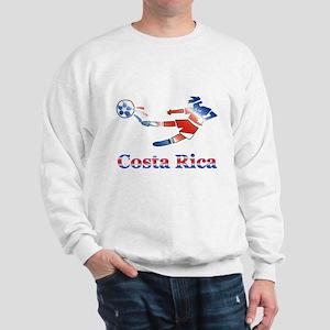 Costa Rica Soccer Player Sweatshirt