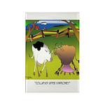 Cow Cartoon 9217 Rectangle Magnet