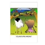 Cow Cartoon 9217 Postcards (Package of 8)