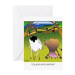Cow Cartoon 9217 Greeting Card