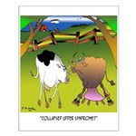 Cow Cartoon 9217 Small Poster