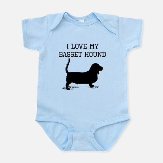 I Love My Basset Hound Body Suit