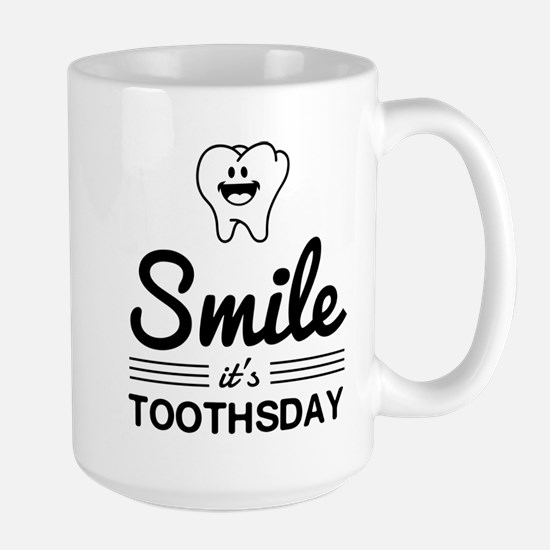 Smile it's toothsday Mugs