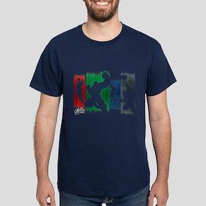 Avengers Stripes Dark T-Shirt