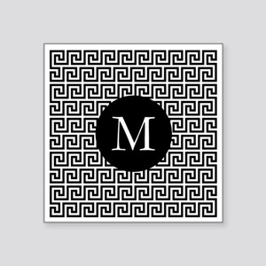 Greek Key Design Monogram Sticker