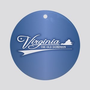 Virginia State of Mine Ornament (Round)