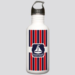 Nautical Sailboat Red Stainless Water Bottle 1.0L