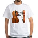 Cheeky Cellist White T-Shirt