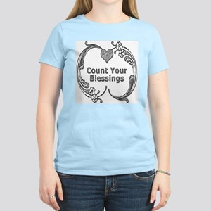 Count Your Blessings Women's Pink T-Shirt