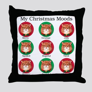 Christmas Moods Throw Pillow