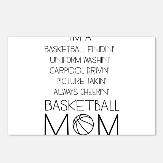 Basketball mom checklist Postcards (Package of 8)