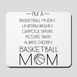 Basketball mom checklist Mousepad