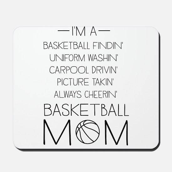Basketball mom checklist Mousepad