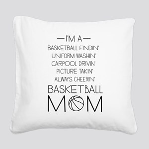 Basketball mom checklist Square Canvas Pillow