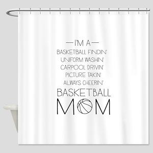 Basketball mom checklist Shower Curtain