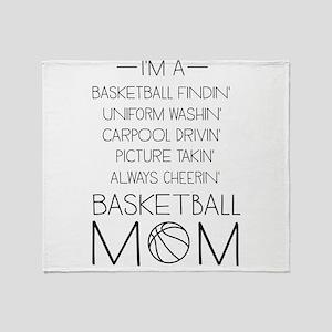 Basketball mom checklist Throw Blanket