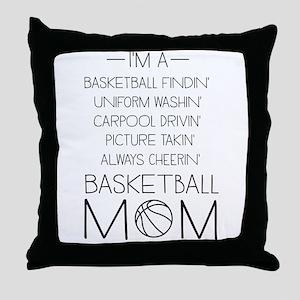 Basketball mom checklist Throw Pillow