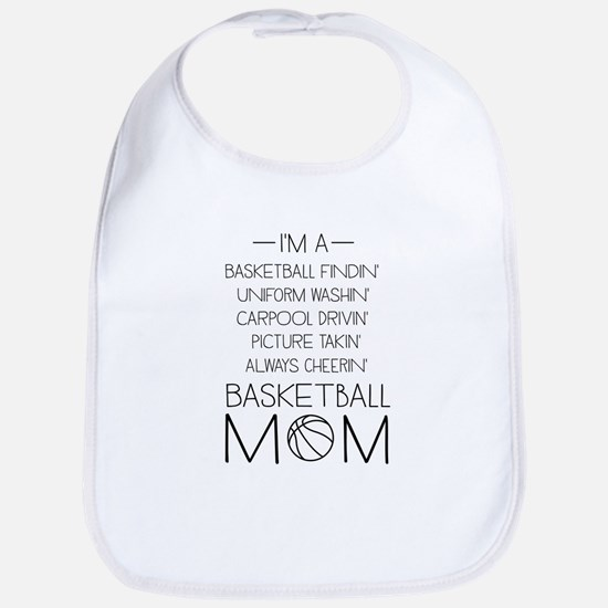 Basketball mom checklist Bib