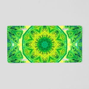Spring Art Mandala Aluminum License Plate