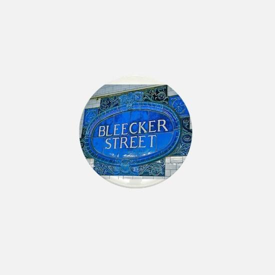 Bleeker Street : NYC Subway Mini Button