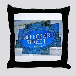 Bleeker Street : NYC Subway Throw Pillow