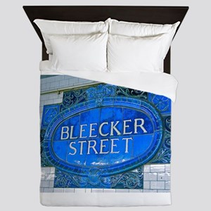 Bleeker Street : NYC Subway Queen Duvet