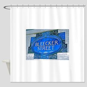 Bleeker Street NYC Subway Shower Curtain